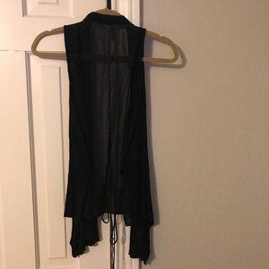 Other - Black open vest